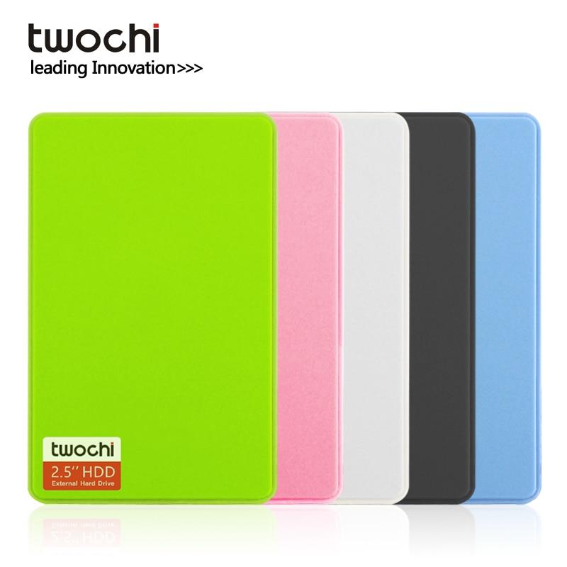 TWOCHI A1 2.5'' USB3.0 External Hard Drive 80GB/120GB/160GB/250GB/320GB/500GB Portable HDD Storage Disk Plug And Play For Pc/Mac