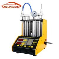 TULANAUTO CT150 Fuel Injector Cleaning Machine Testers 4 Cylinder Ultrasonic Common Rail Injector Tester Repair Kit Cleaner
