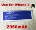 2950 мАч Литий-Ионная Замена Для Apple iPhone 5 батареи iphone5 бесплатная доставка с онлайн-номер дорожки