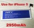 2950 mah li-ion batería de repuesto para apple iphone 5 iphone5 envío libre con número de la pista en línea