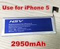 2950mAh Li-ion Replacement For Apple iPhone 5 battery iphone5 free shipping with online track number