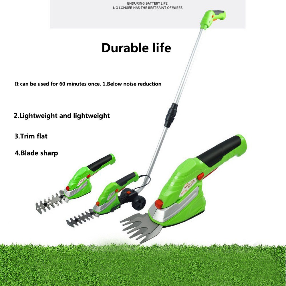 Lawn Mower Electric Grass Trimmer Cutter Lithium-ion 1500mAh Cordless Grass Trimmer Pruning Cutter Garden Tools with 2 Blades
