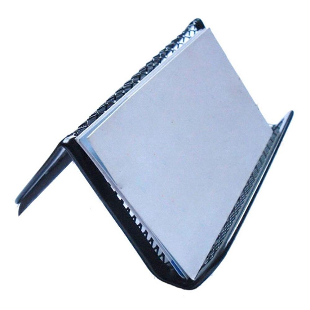 stylish black steel mesh business card holder office supplies card holder porte carte. Black Bedroom Furniture Sets. Home Design Ideas