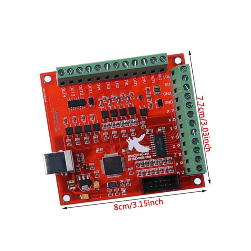 USB MACH3 100Khz Breakout Board 4 Axis Cnc Wood Machinery Interface Driver Motion Controller
