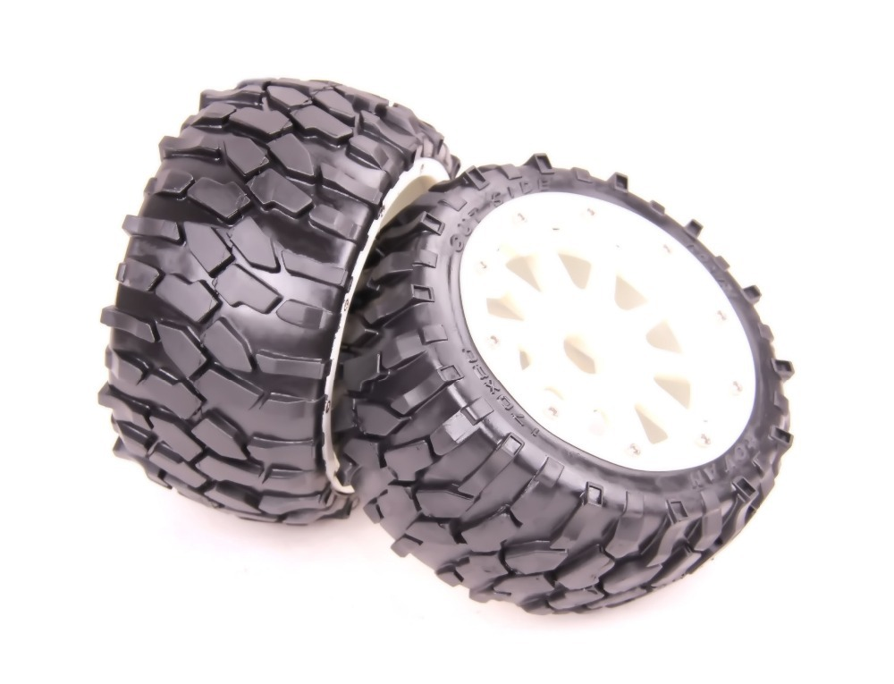Baja 5B Rear Front Macadam Wheels set HPI ROVAN KM Baja baja 5b desert wheels and tyres for 1 5 hpi rovan km