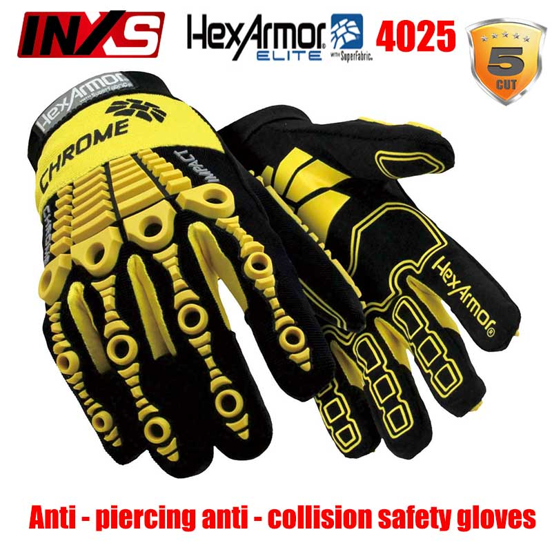 Security & Protection Safety-inxs Mac465b Anti-vibration Gloves Heavy Duty Impact Flood Prevention Shock-absorbing Gloves Outdoor Sports Safety Glove Rapid Heat Dissipation