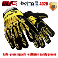 SAFETY-INXS 4025 защита Перчатки предупреждения столкновений анти-вырезать анти-прокол безопасности перчатки высокого качества опасная работа Пе...