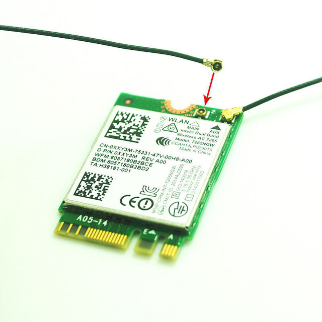 wifi karte IPEX MHF4 Interne Antenne Laptop NGFF für Intel 7260 3160 8260  wifi karte