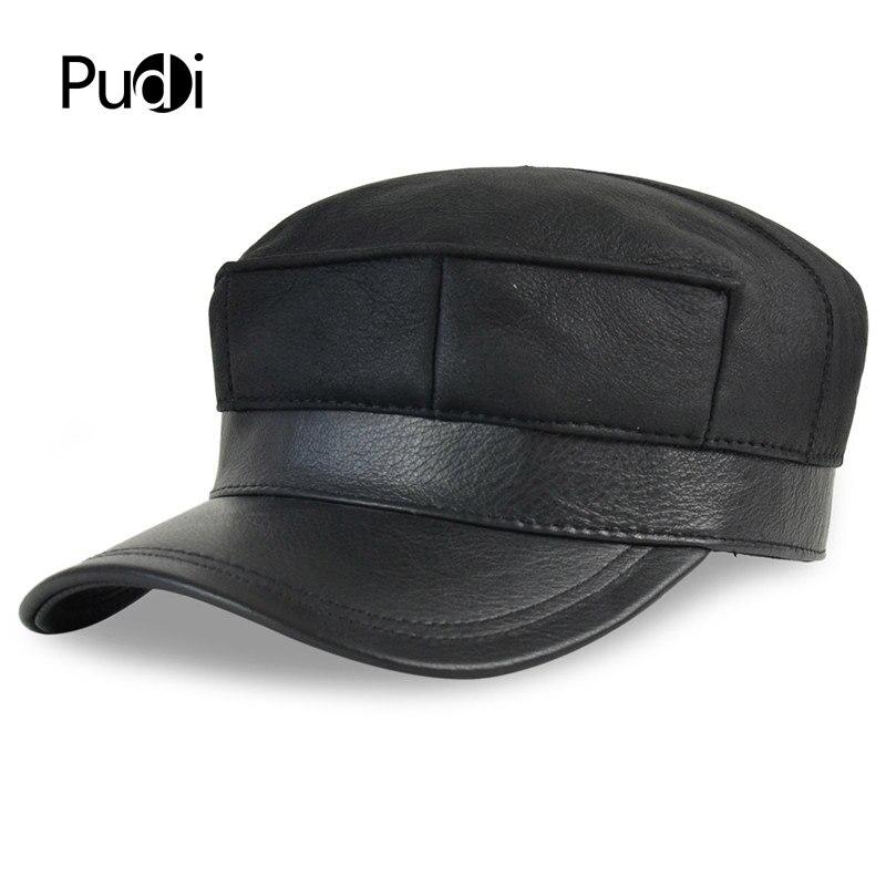 HL7115 casquette de baseball en cuir véritable chapeau d'hiver chaud russe vieux hommes un béret de fourrure armée oreille rabat chapeaux avec vraie fourrure à l'intérieur