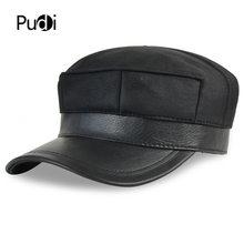 HL7115 real couro boné de beisebol chapéu morno do inverno Russo homens  velhos de um colar da pele do exército boina ear Flap ca. 24391912df8
