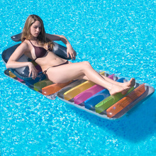 Folding recliner chair lazy inflatable sofa stool portable outdoor swimming