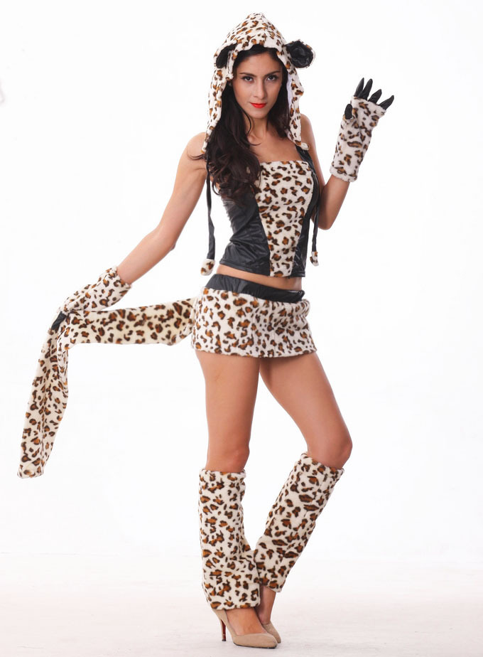 Halloween Costumes Adult Womens Animal Costumes Deluxe Leopard Tiger Costumes Fancy Dress Cosplay Costume For Women