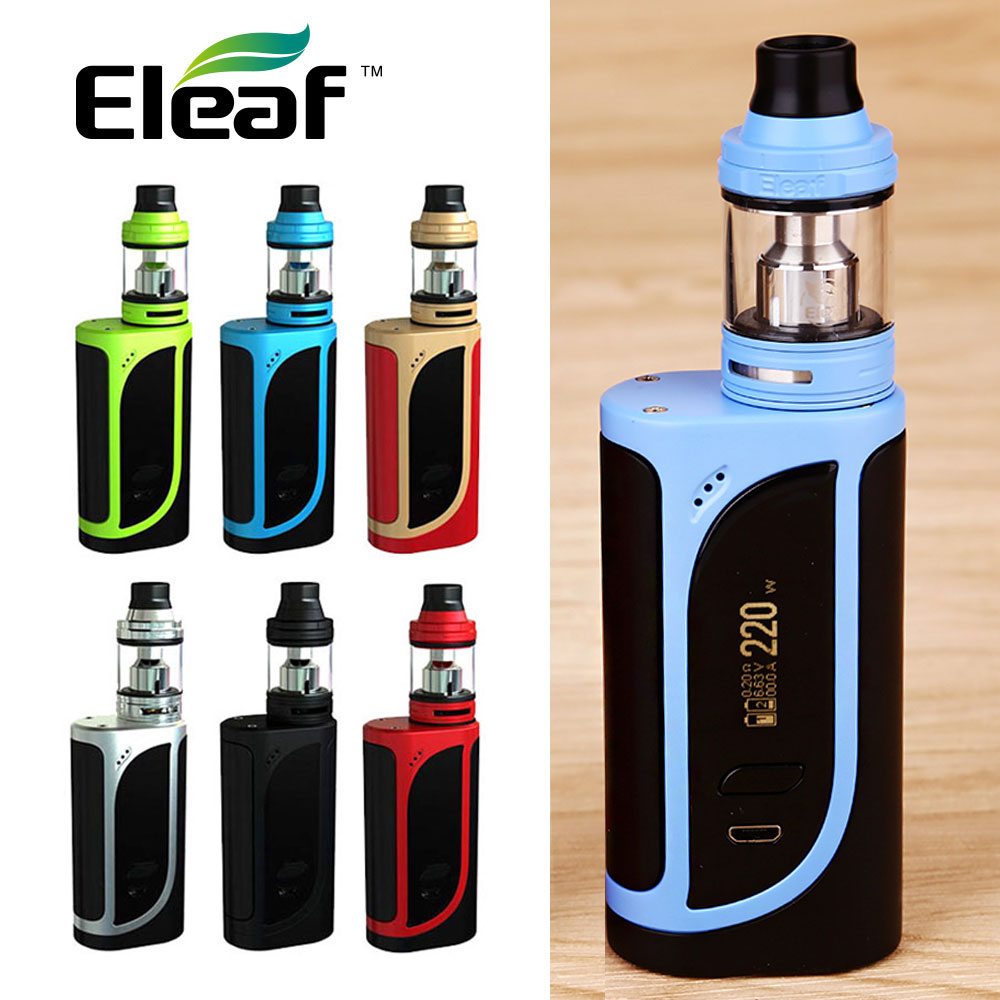 Original Eleaf IKonn 220 Kit vaporizer W/ ELLO 2ml/4ml Atomizer Tank E Cigarette 220W IKONN MOD VS Alien MOD no 18650 battery