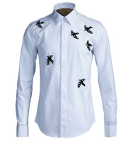 New Handmade Beaded Swallow Metrosexual Slim Shirt Shirt Fashion Models