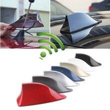 7 Colors Universal FM Signal Amplifier Car Radio Aerials Shark Fin Antenna Car Roof Decoration Car Exterior Accessories цена и фото