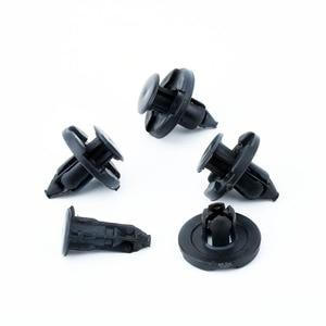Image 1 - 100 sztuk 8mm zderzak samochodowy błotnik specjalny Nylon nit mocujący dla Livina Nissan Sylphy samochód tiida wewnętrzne klipsy mocujące