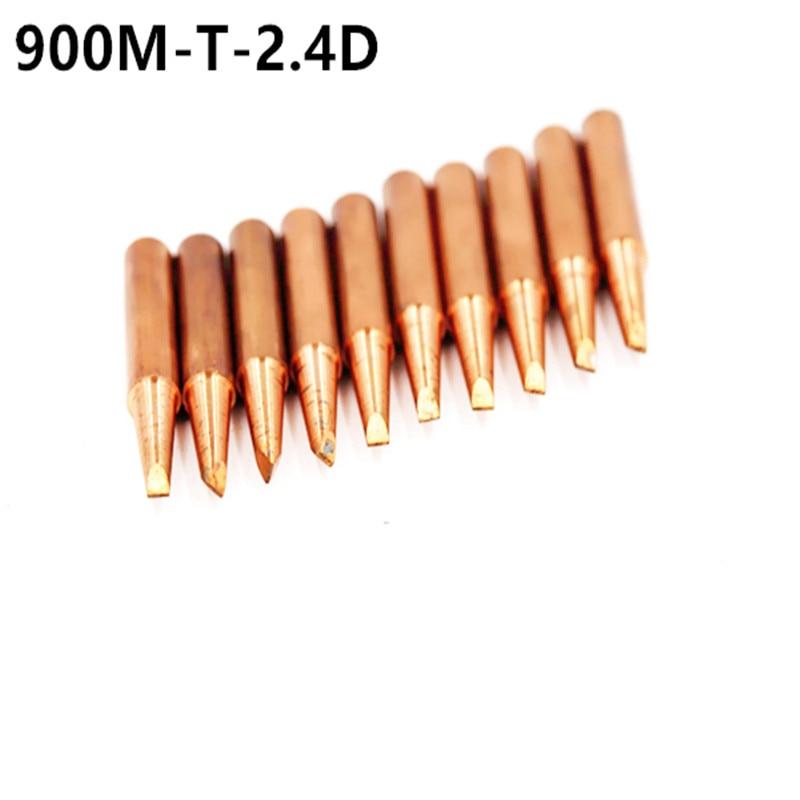 10piece 900M-T-2.4D Diamagnetic Copper Soldering Iron Tip Lead-free Solder Tip 933.376.907.913.951,898D,852D+ Soldering Station