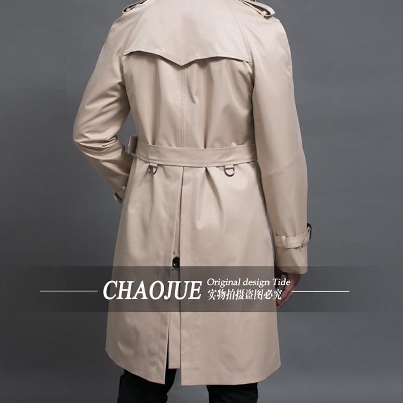 CHAOJUE бренд настроить одежда высшего качества Британский двубортный мужской длинный плащ Европа Тренч Куртка Пальто Тренч - 3
