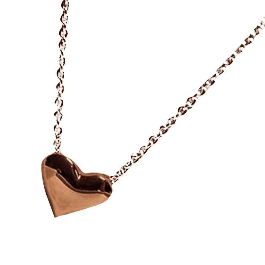 แฟชั่นผู้หญิงสร้อยคอหัวใจ Bib Chain สร้อยคอจี้เครื่องประดับ Vintage ประณีตแรงบิด Trinket