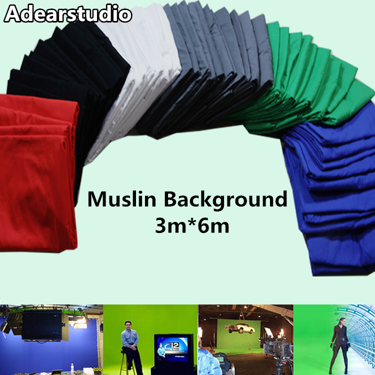 Photo lighting studio Chromakey Green screen cotton background backdrop3*6M(10*20FT)photography backdrops green screen CD50