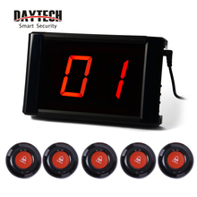 DAYTECH Waiter Calling System Wireless Queue Pagers Restaurant Coaster Pager number Calling system LCD Receiver Waterproof Call daytech restaurant pager wireless calling pagering system coast pagers 433mhz call buzzers 20 buttons waiter service system