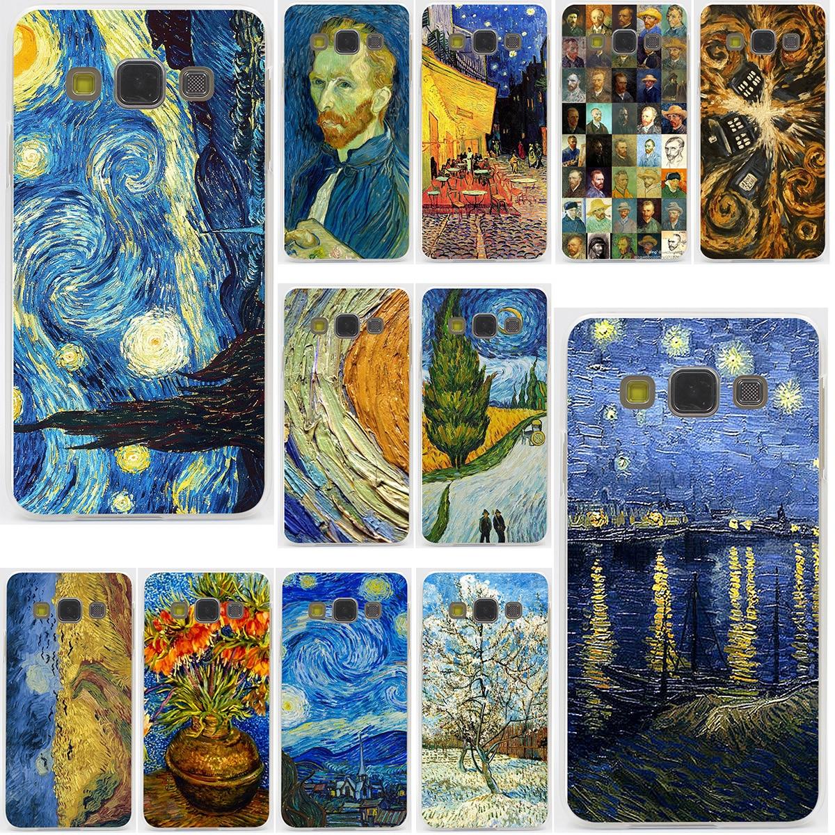 Van Gogh Tardis Fest für Samsung-galaxie A3 A5 J3 J5 J7 2015...