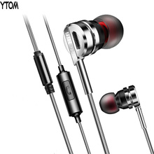 T3 TOP Sound Metal Earphone Earbuds Stereo Sound Music MP3 headset With Microphone for iphone xiaomi samsung kill monks earbuds(China)