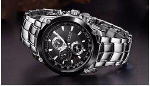 Image 3 - CURREN luksusowy zegarek męski biznes męski zegarek kwarcowy wojskowy wodoodporny zegarek Sport Relogio Masculino reloj hombre