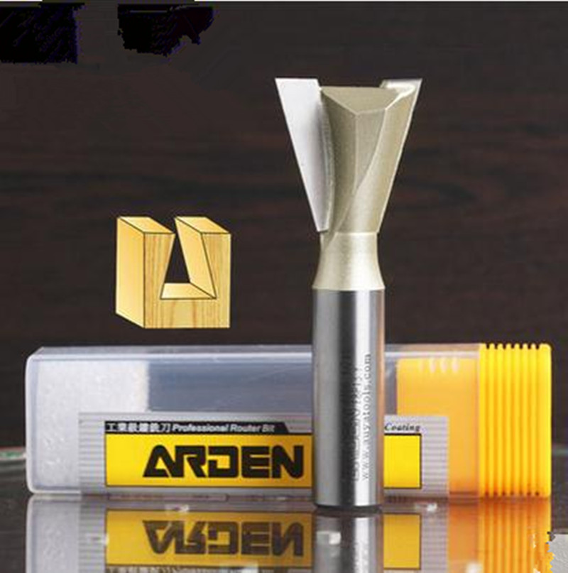 1/4*3/8 (9.53MM ) Dovetail milling cutter Arden Router Bit Woodworking Tool 1/4 shank for trimming machine 1 2 shank router bit milling cutters for doors woodworking tool trimming flooring wood tools