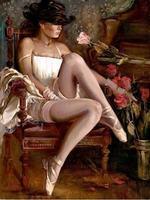 액자 섹시한 여자 번호 DIY 추상 유화 홈 장식 캔버스 그림 장식품 벽 예술 사진 40x50