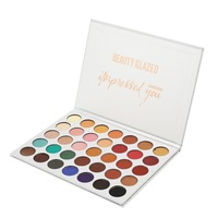 BEAUTY GLAZED 35 Hot Colors Shimmer Natural Powder Eyeshadow Beauty Glazed Make Up Eye Shadow Palette