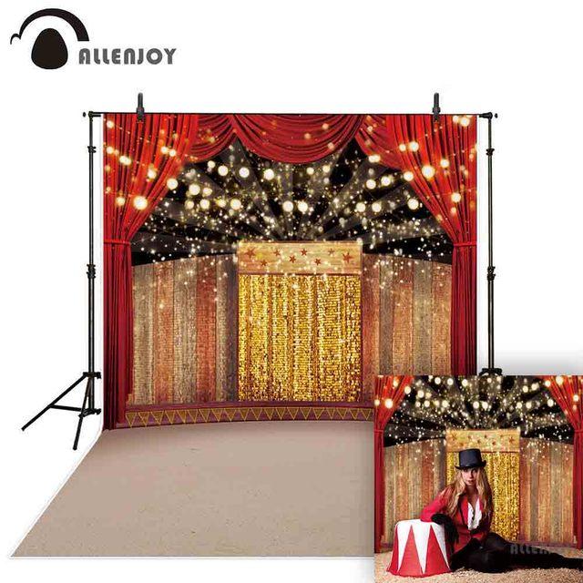 Allenjoy fotoğraf backdrop sahne altın lüks sirk arka plan photocall ateş prop stüdyo dekor stüdyo parti baskılı