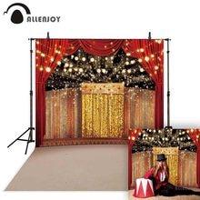 Allenjoy telón de fondo de escenario dorado de lujo para sesión fotográfica, Fondo de circo, decoración de estudio, fiesta, impreso