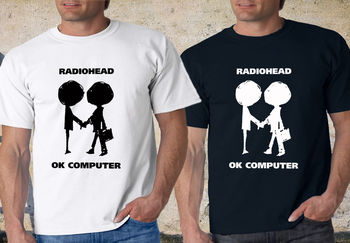 Radiohead Logo OK Computer OKNOTOK Music Rock Black & White T-Shirt tee S-3XL Novelty Cool Tops Men'S Short Sleeve Tshirt 2018