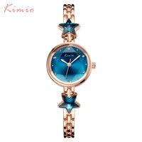 Women Watches KIMIO Brand Dress Quartz Watch Gold Ladies Bracelet Watches Luxury Female Wristwatches 2017 Hot