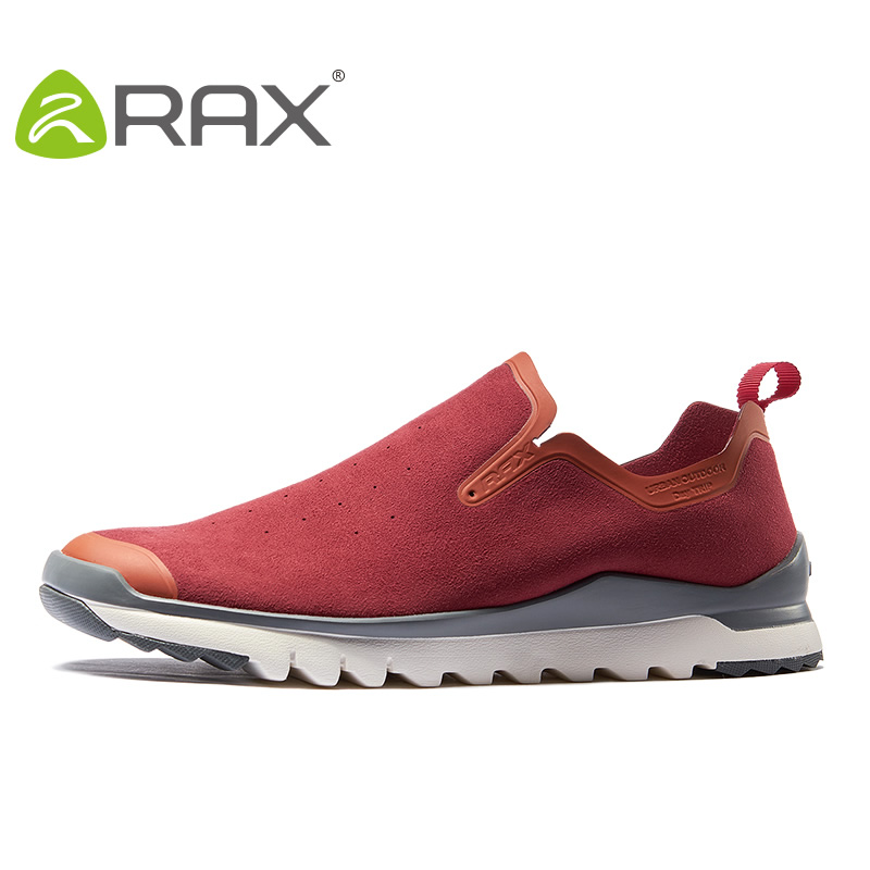 Rax Men Hiking Shoes Suede Leather Sports Shoes Super Light Breathable Outdoor Climbing Shoes Damping Sneakers #B2567