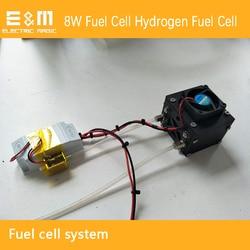 8W Sistema de celda de combustible de hidrógeno sistema de celda de combustible con celda de combustible pila voltaica Válvula de evacuación de Celda de Combustible controlador de ventilador