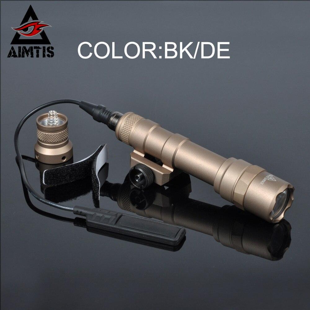 Цена за AIMTIS M600B Scout Свет Фонарик СВЕТОДИОДНЫЙ CREE R5 Weaponlight С Дистанционным Реле Давления Контроллер Для Ночного Освещения