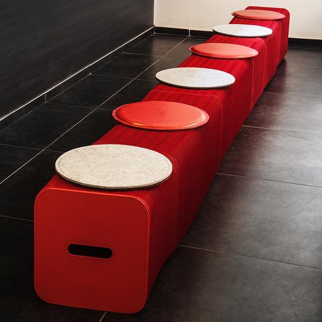 Ihpaper Kleine Möbel Einstellbare Hocker Sechs Sitzer Mode Stilvolle Rote  Hocker
