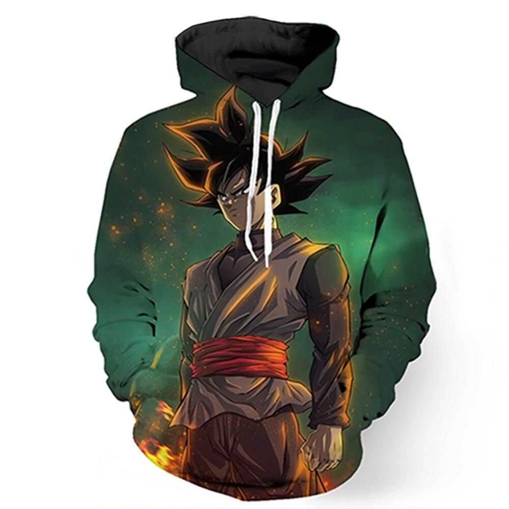 Anime Dragon Ball Z Goku 3d Sweatshirt Hooded