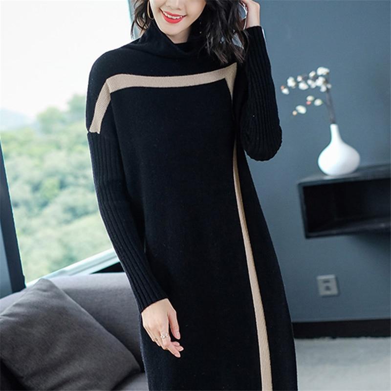 black Robe Tricots Nouveau Vs424 longue Printemps Taille Camel Dames Lâche Laine Pull Mi Grande Femmes Mode Chandail En Hiver 2019 Automne Qualité 1rfUwExg1q