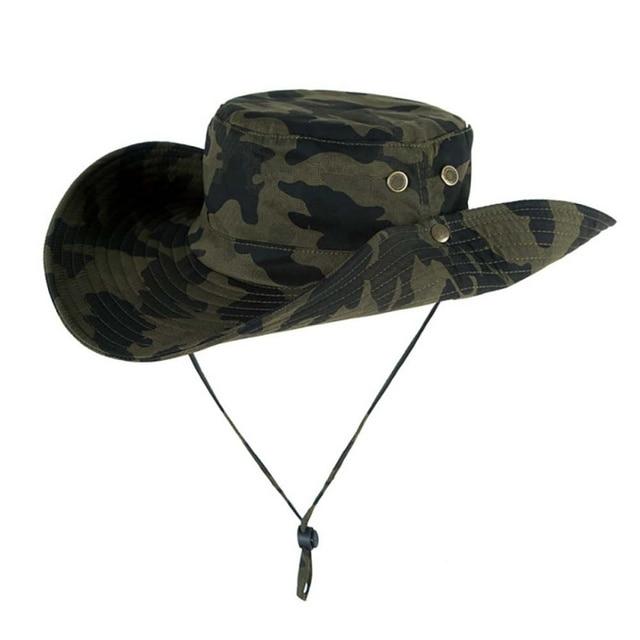 7 Warna Camflage Militer Ember Topi untuk Pria Luar Ruangan Topi Matahari  Daki Gunung Pancing Topi 86da2a37a1