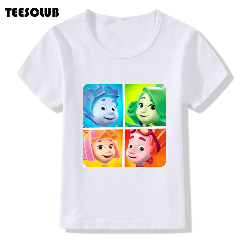 TEESCLUB Russian Cartoon The Fixies T shirt 2018 Children Cute Screw Design Short Sleeve T-shirt Boys Girls Summer Top Shirt ...