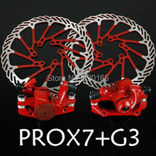 Buy online Bike Road bike bicycle Alloy Mechanical Disc Brake Set Rear Include 160mm Centerline rotor 2 Brake Calipers 2 G3 Disc Rotors