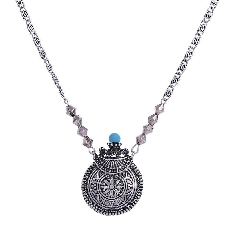Grenouille Sur Lily Pad Collier Charms Bijoux Tibet pendentif en argent chaîne Collier