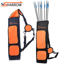 1pc Shoulder Back Arrow Quiver Adjustable Portable Quiver Arrows For Compound/Recurve Bow Hunting Shooting Archery Accessories цена и фото