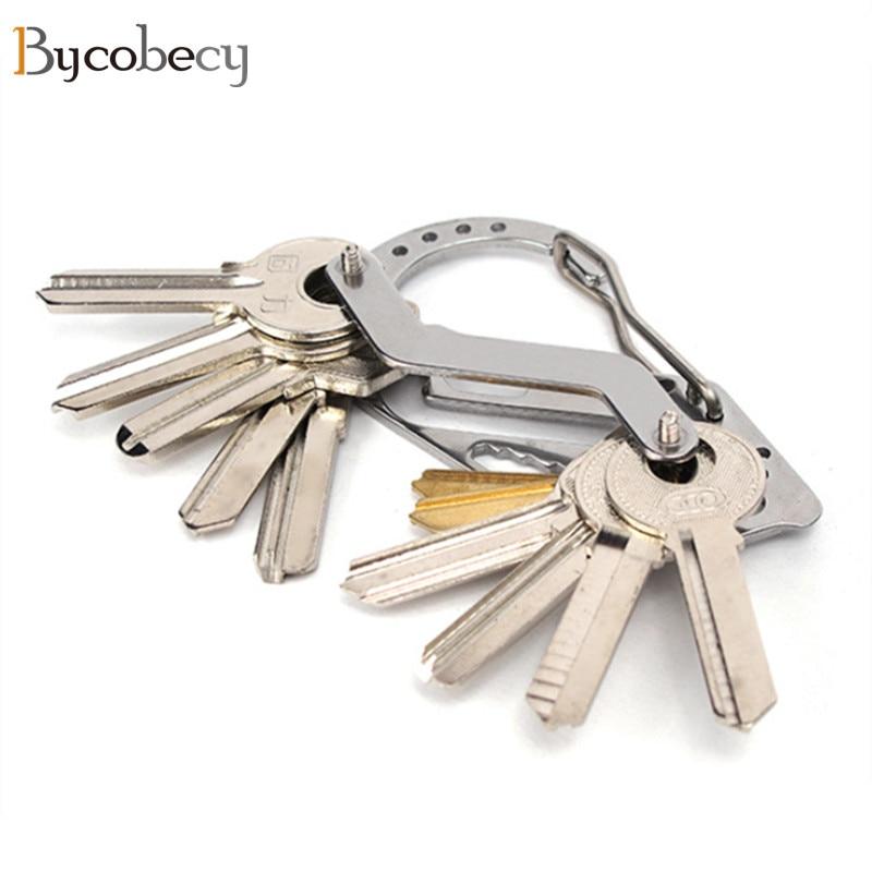 Key Holder KeyRing Wallets Smart Car Key Chain Collector Housekeeper Oxide Aluminum EDC Pocket Key Organizer Bottle Opener hand bottle opener key chain