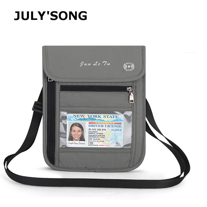 JULY'S SONG RFID Anti-theft Multifunctional Travel Organizer Passport Package Waterproof Document Package Portable Wallet