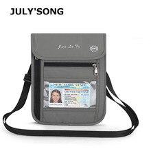 JULYS SONG RFID Anti-theft Multifunctional Travel Organizer Passport Package Waterproof Document Portable Wallet