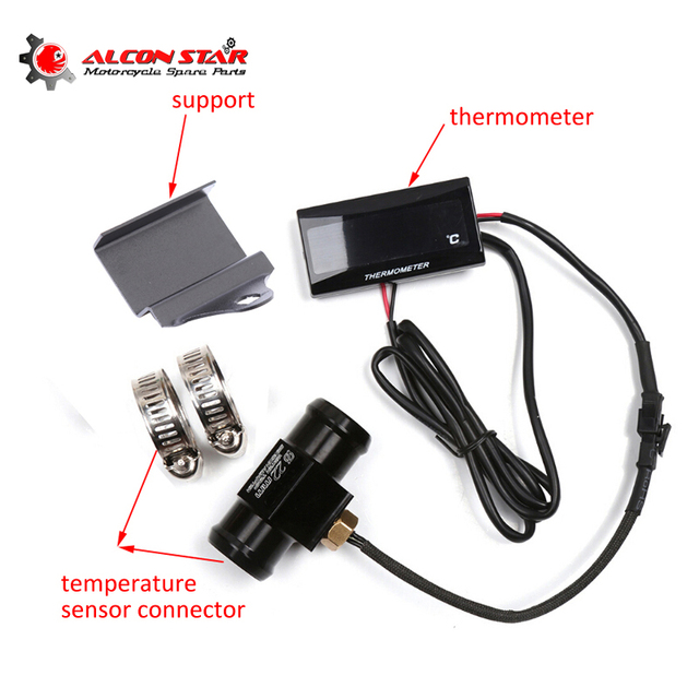 alconstar motorcycle meter water temp gauge accessories koso